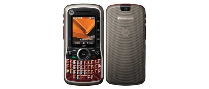 Boost Mobile Motorola Clutch i465 – first messaging phone