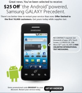 Samsung Galaxy Precedent available for $124.99 with promo code