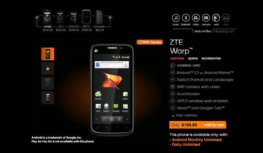 ZTE Warp from Boost Mobile now only $199.99 after cutting $50 off the