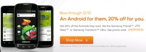 Boost Mobile phones 20% off