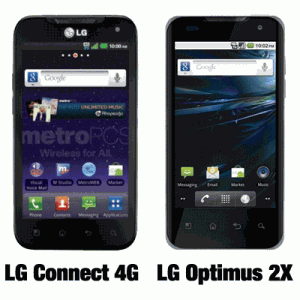 MetroPCS LG Connect 4G vs LG Optimus 2X 4G from Straight Talk