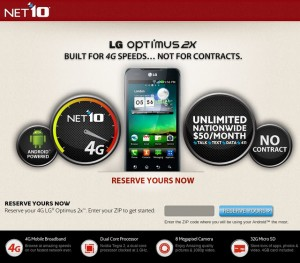 LG Optimus 2X on NET10 brings 4G speeds to its users