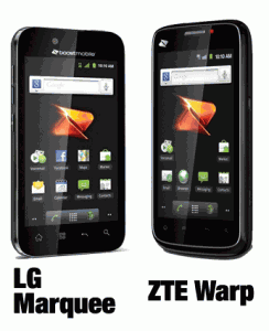 ZTE Warp vs LG Marquee - compare best Boost Mobile Android phones