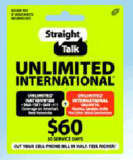 Straight Talk unlimited international plan available now for $60