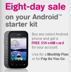 Samsung exhibit ii 4g for 225 with free 50 refill on the for T mobile refill
