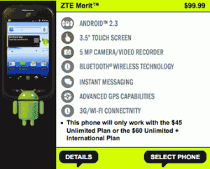 Straight Talk ZTE Merit available for $99.99