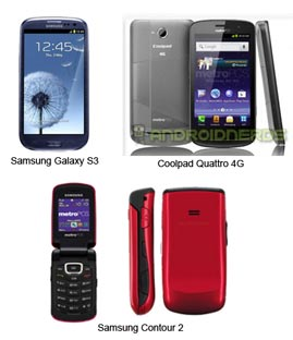 Samsung Galaxy S3 On Metropcs Other Seven Handsets Leaked Prepaid Mobile Phone Reviews