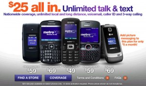 MetroPCS $25 unlimited talk and text plan is back