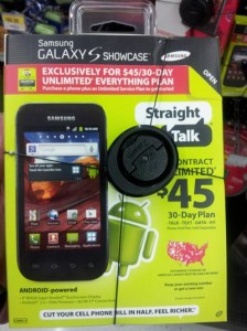 Straight Talk Samsung Galaxy S Showcase available