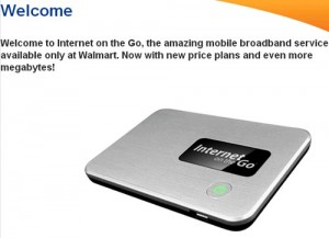 Walmart mobile broadband Internet on the Go introduces new plans