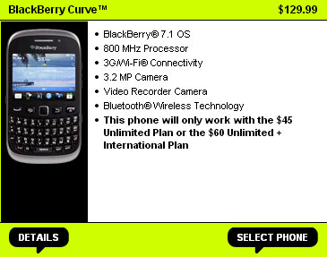 Straight Talk BlackBerry Curve 9310 available now for $129.99