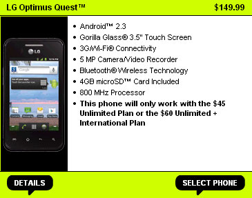 Straight Talk LG Optimus Quest available for $149.99