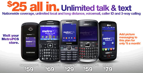 MetroPCS $25 Unlimited Talk and Text Plan available again