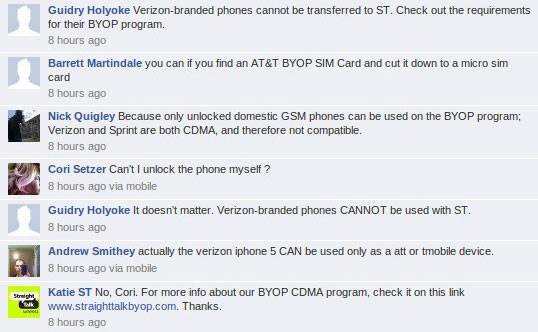 Straight Talk CDMA BYOD program for Verizon apparently launches on March 26