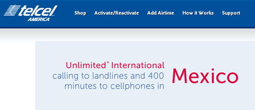 Telcel America limits calls to Mexican mobile phones to 400 minutes