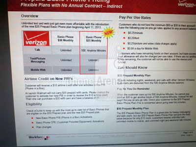 Verizon $35 Prepaid Basic Phone plan leaks, two new basic handsets as well