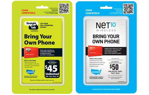 Straight Talk and Net10 BYOP CDMA Activation Kit available at Walmart