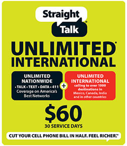 Straight Talk limits Unlimited International Plan, so as Net10