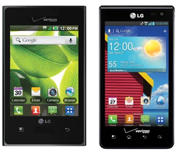 Verizon prepaid LG Optimus Zone and LG Optimus Exceed added to smartphone lineup
