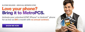 MetroPCS GSM BYOP program now in all MetroPCS stores