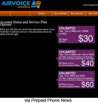 Airvoice plans changed, include more data