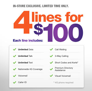 Promotional MetroPCS family plan