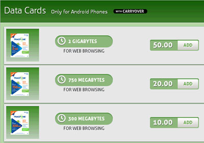 TracFone branded Android phones and data cards soon available
