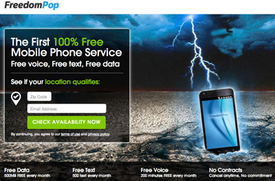 FreedomPop free service plan now available with HTC EVO Design