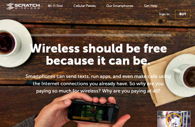Scratch Wireless launches free service, Wi-Fi First