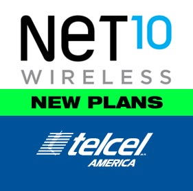Net10 and Telcel America new plans available