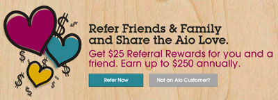 Aio Wireless offers referral rewards to their customers