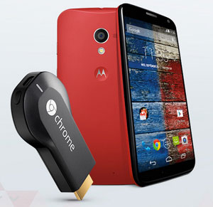 Off-contract Moto X promotion offers Google Chromecast for free