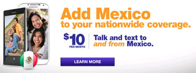 MetroPCS includes calling from Mexico to $10 Mexico Calling Plan