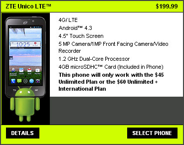 Straight Talk ZTE Unico LTE AT&T-compatible now available