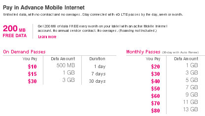 T-Mobile prepaid plans T-Mobile One Prepaid With the prepaid version of T-Mobile's unlimited data plan, you get unlimited talk, text and data for $70 per month.