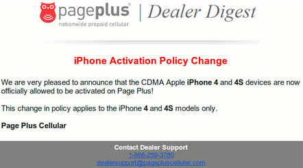 Page Plus activates iPhone 4 and 4S officially now