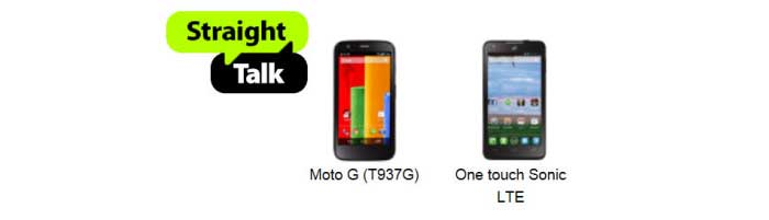 Straight Talk Moto G and Alcatel OneTouch Sonic LTE now available