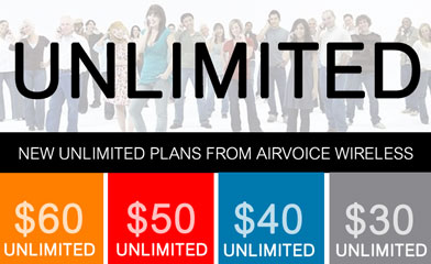 Airvoice adds free international text and talk to most plans and a new $50 unlimited plan