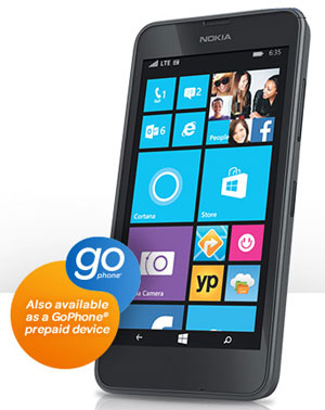 AT&T GoPhone Nokia Lumia 635 available from July 25 for $99