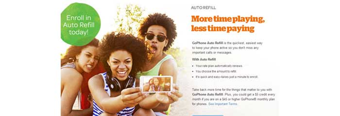 AT&T GoPhone offering $5 credit for using Auto Pay on a $45 plans or higher