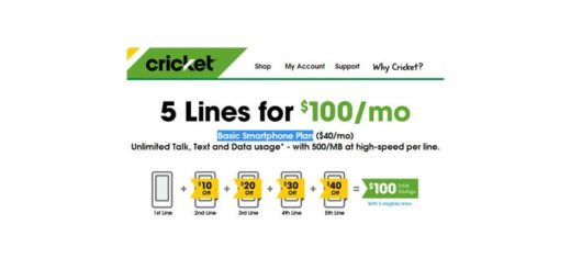 Cricket offers five lines for $100 promotion; $40 discount on fifth line expires March 1, 2016