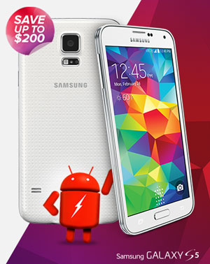 Virgin Mobile Samsung Galaxy S5 up to $200 off today after $100 discount and $100 account credit