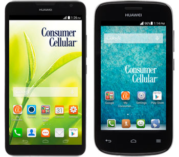 Consumer Cellular Huawei Ascend Mate 2 and Vision 2 available now