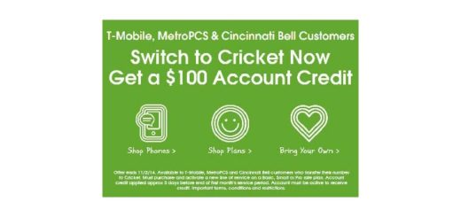 Cricket extends $100 credit promo for T-Mobile and MetroPCS customers who port until Nov. 2
