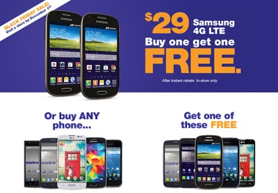 MetroPCS offering Buy One, Get One Black Friday deal for 2014