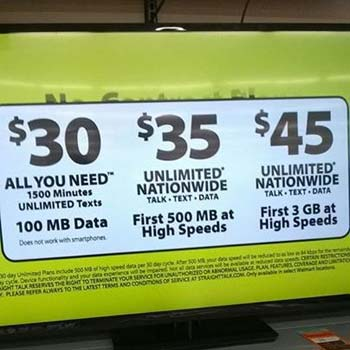New Straight Talk $35 unlimited plan spotted at Walmart