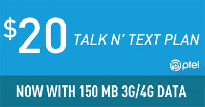 PTel adds data to $20 Unlimited Talk and Text Plan, introduces new $40 plan