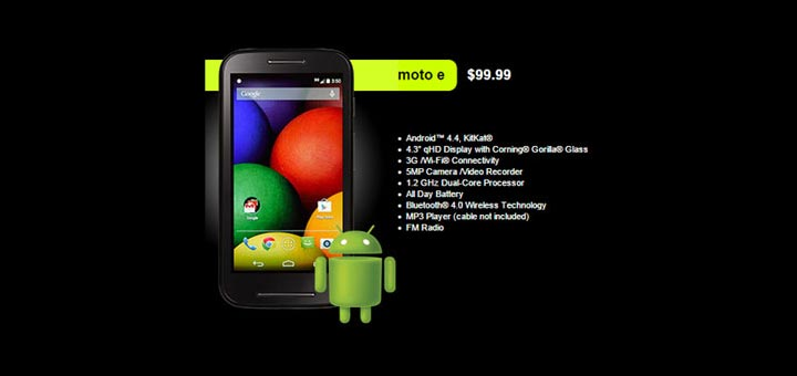 Straight Talk Moto E now available for $99.99, uses Verizon network