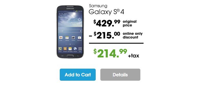 Cricket extends Cyber Monday sale of Samsung Galaxy S4 through today, Dec.2