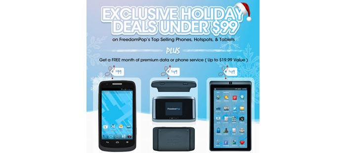 FreedomPop holiday deals under $99 available now